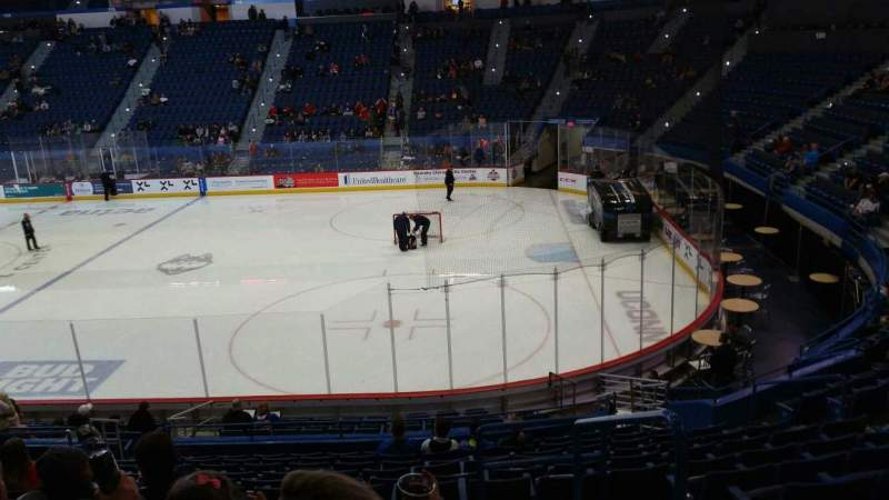 Seating view for XL Center Section 101 Row U Seat 11