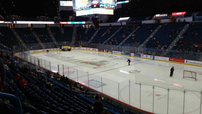 Seating view for XL Center Section 124 Row U Seat 18