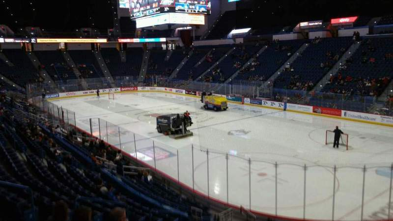 Seating view for XL Center Section 124 Row U Seat 11