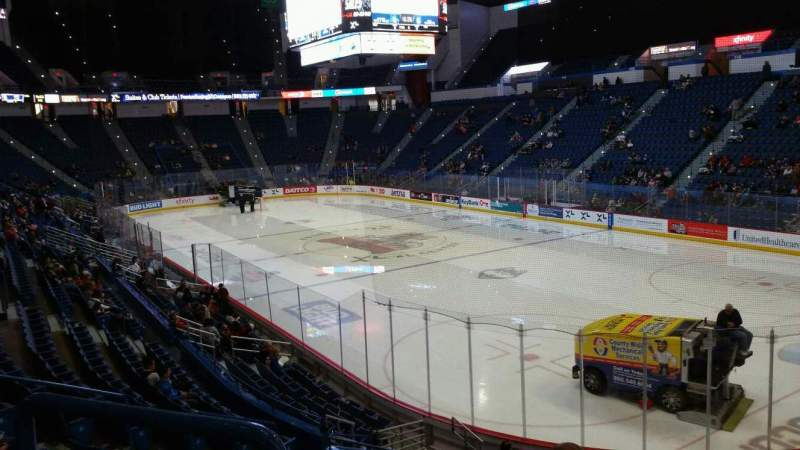 Seating view for XL Center Section 124 Row T Seat 8