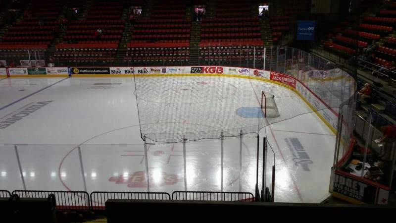 Seating view for Floyd L. Maines Veterans Memorial Arena Section 12 Row G Seat 9