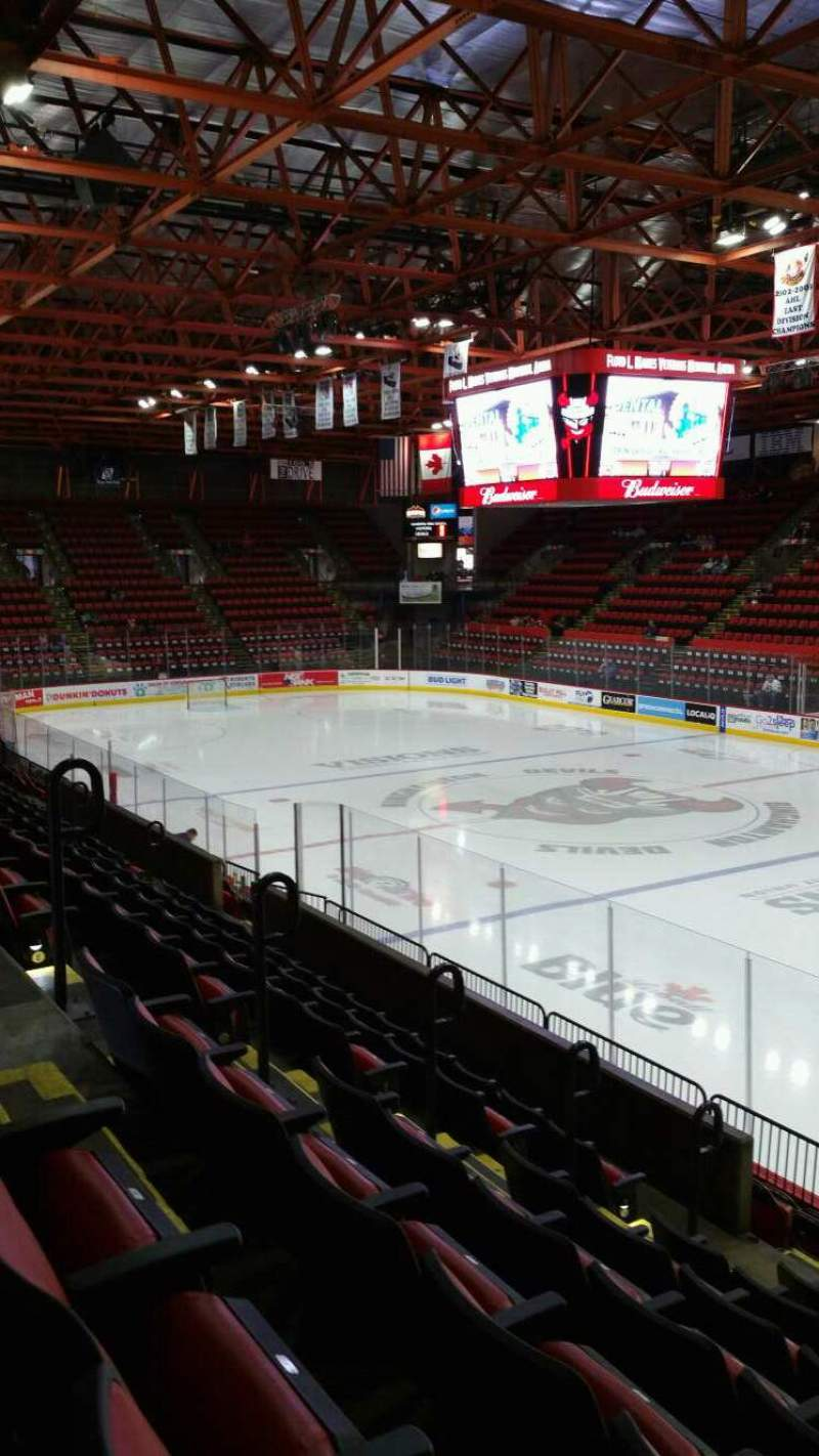 Seating view for Floyd L. Maines Veterans Memorial Arena Section 12 Row G Seat 5