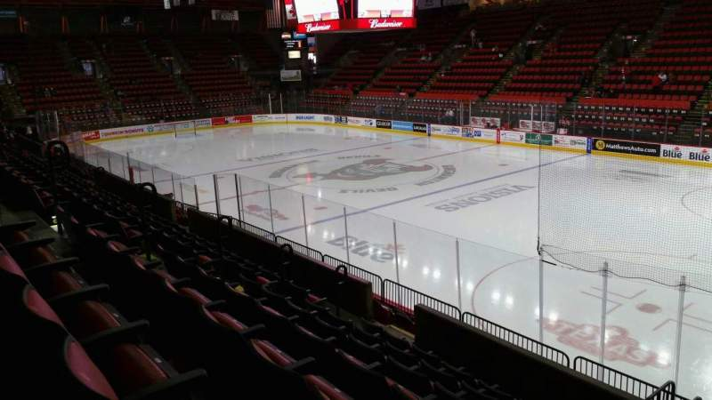 Seating view for Floyd L. Maines Veterans Memorial Arena Section 12 Row G Seat 1