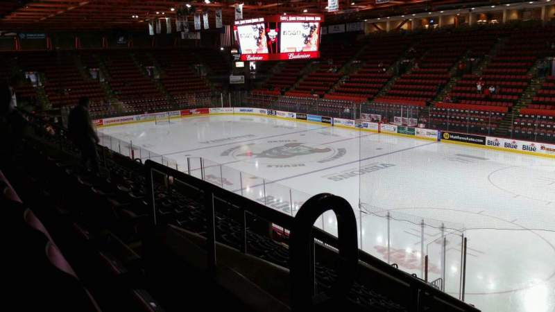 Seating view for Floyd L. Maines Veterans Memorial Arena Section 11 Row J Seat 1