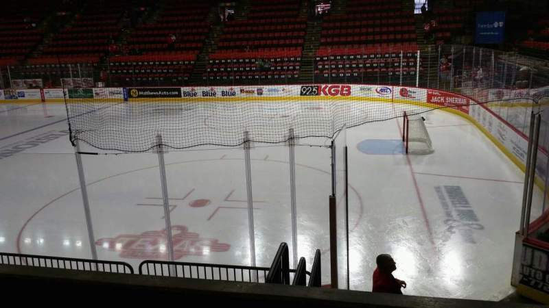 Seating view for Floyd L. Maines Veterans Memorial Arena Section 12 Row C Seat 7