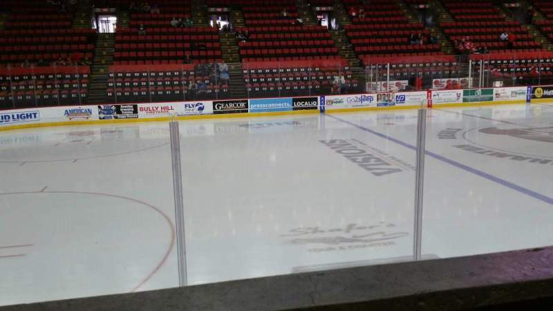 Seating view for Floyd L. Maines Veterans Memorial Arena Section 17 Row A Seat 6