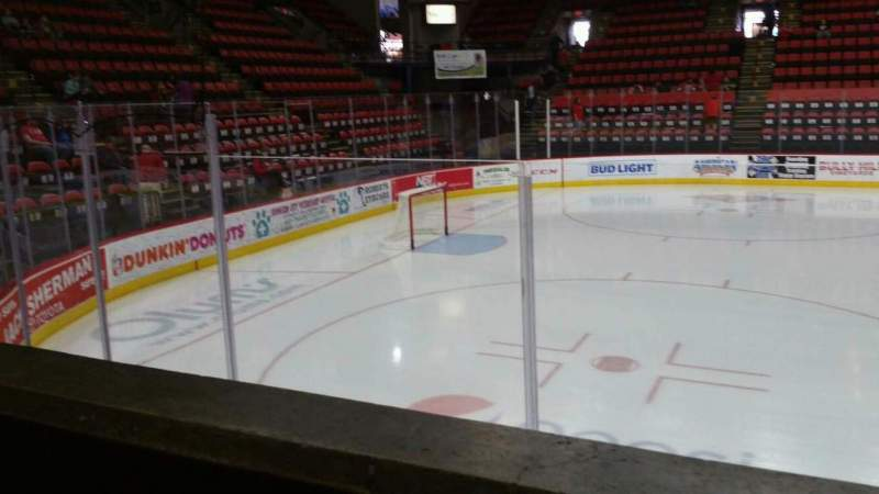 Seating view for Floyd L. Maines Veterans Memorial Arena Section 17 Row A Seat 11