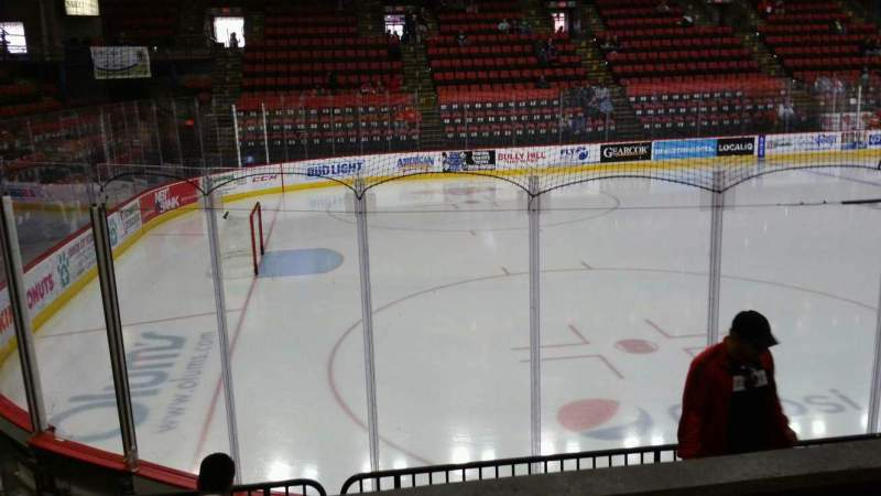 Seating view for Floyd L. Maines Veterans Memorial Arena Section 18 Row B Seat 8