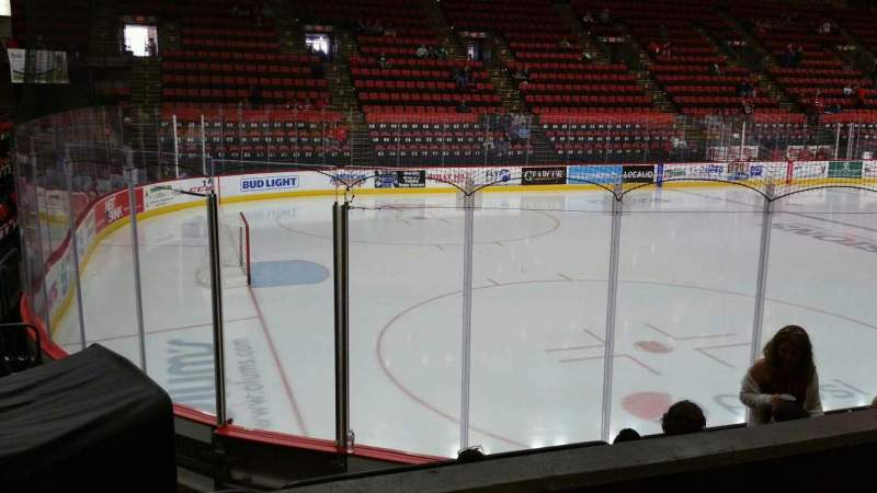 Seating view for Floyd L. Maines Veterans Memorial Arena Section 18 Row B Seat 14