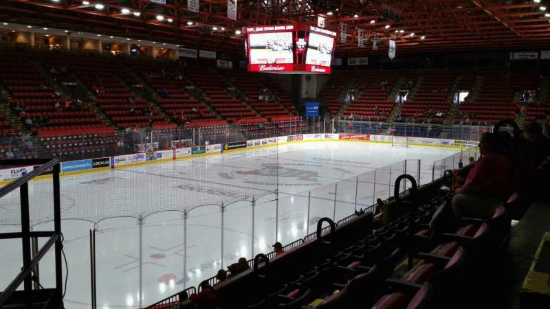 Seating view for Floyd L. Maines Veterans Memorial Arena Section 19 Row F Seat 5