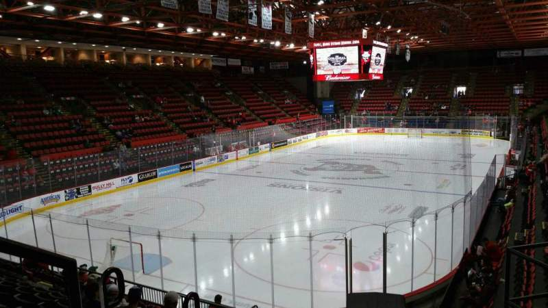 Seating view for Floyd L. Maines Veterans Memorial Arena Section 20 Row H Seat 1