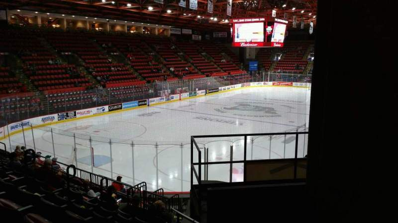 Seating view for Floyd L. Maines Veterans Memorial Arena Section 20 Row H Seat 7