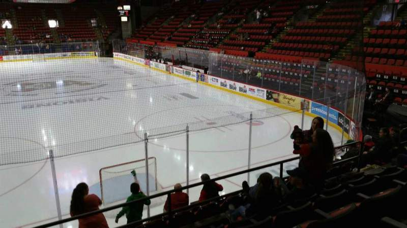Seating view for Floyd L. Maines Veterans Memorial Arena Section 22 Row E Seat 13