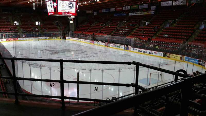 Seating view for Floyd L. Maines Veterans Memorial Arena Section 24 Row F Seat 1