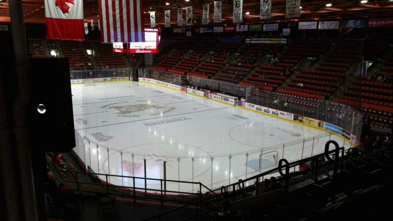 Seating view for Floyd L. Maines Veterans Memorial Arena Section 24 Row M Seat 8