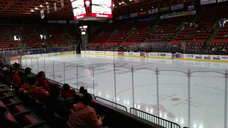 Seating view for Floyd L. Maines Veterans Memorial Arena Section 26 Row C Seat 1