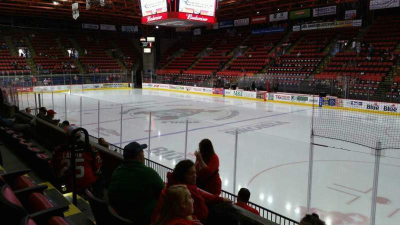 Seating view for Floyd L. Maines Veterans Memorial Arena Section 26 Row C Seat 8