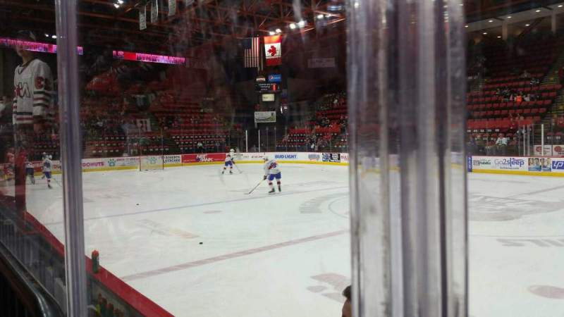 Seating view for Floyd L. Maines Veterans Memorial Arena Section 14 Row BB Seat 7