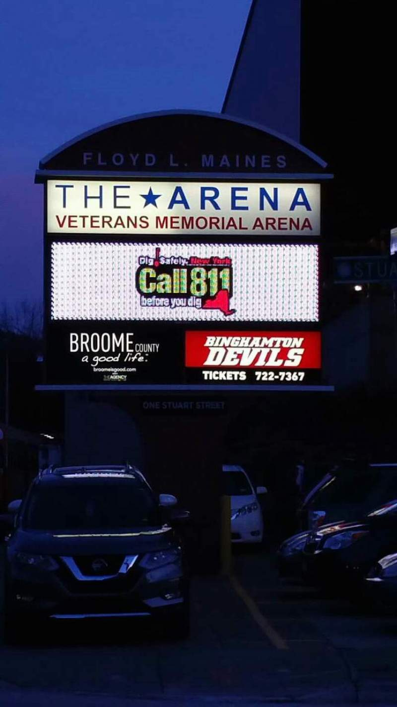 Seating view for Floyd L. Maines Veterans Memorial Arena Section EXTERIOR