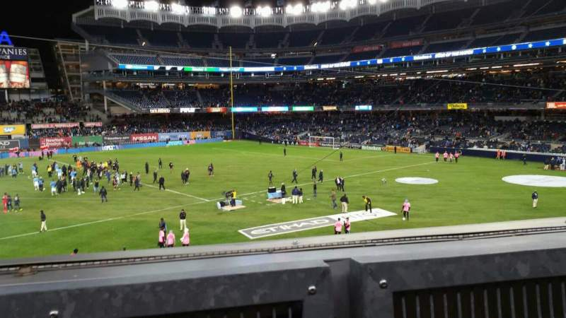 Seating view for Yankee Stadium Section 227B Row 1 Seat 4