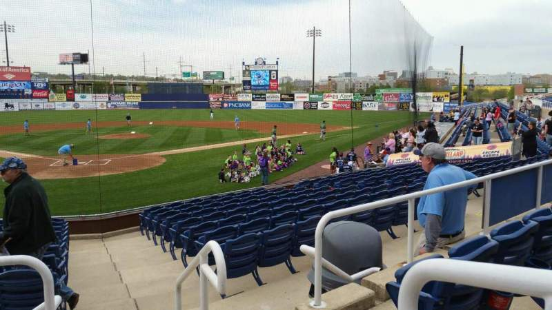 Seating view for Frawley Stadium Section G Row 3 Seat 1