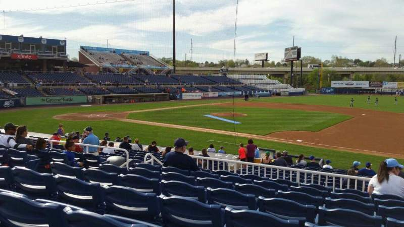 Seating view for Frawley Stadium Section A Row 8 Seat 16