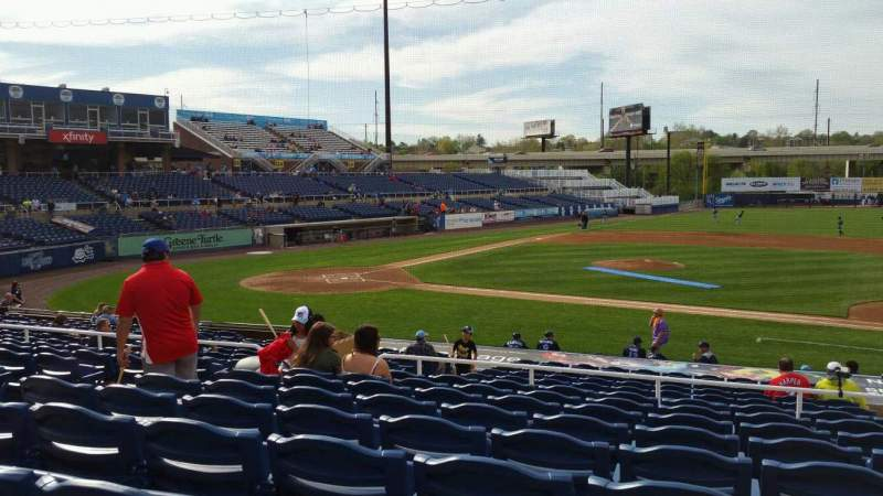 Seating view for Frawley Stadium Section B Row 9 Seat 17