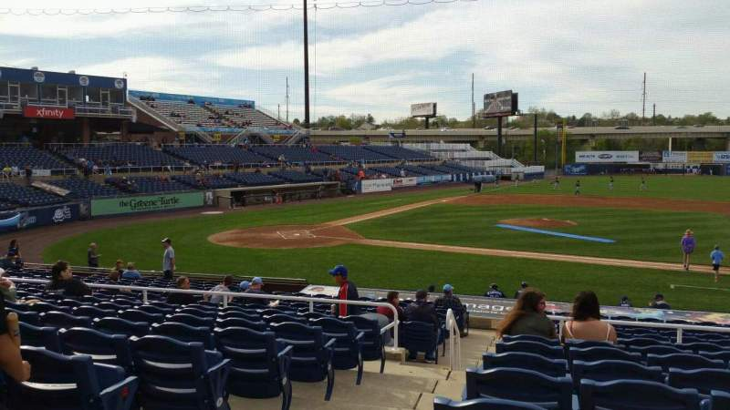 Seating view for Frawley Stadium Section B Row 9 Seat 23