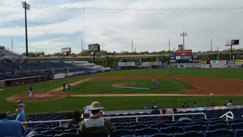 Seating view for Frawley Stadium Section C Row 8 Seat 8