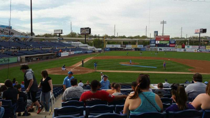 Seating view for Frawley Stadium Section C Row 8 Seat 23