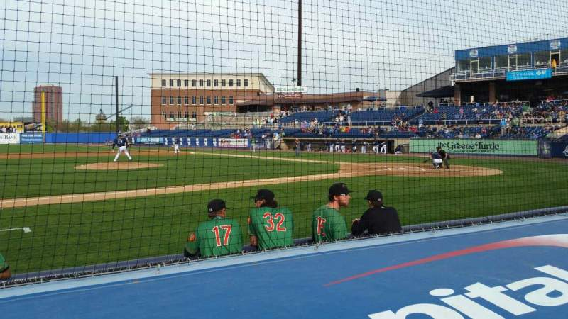 Seating view for Frawley Stadium Section 21 Row 1 Seat 10