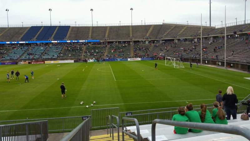Seating view for Rentschler Field Section 103 Row 13 Seat 1