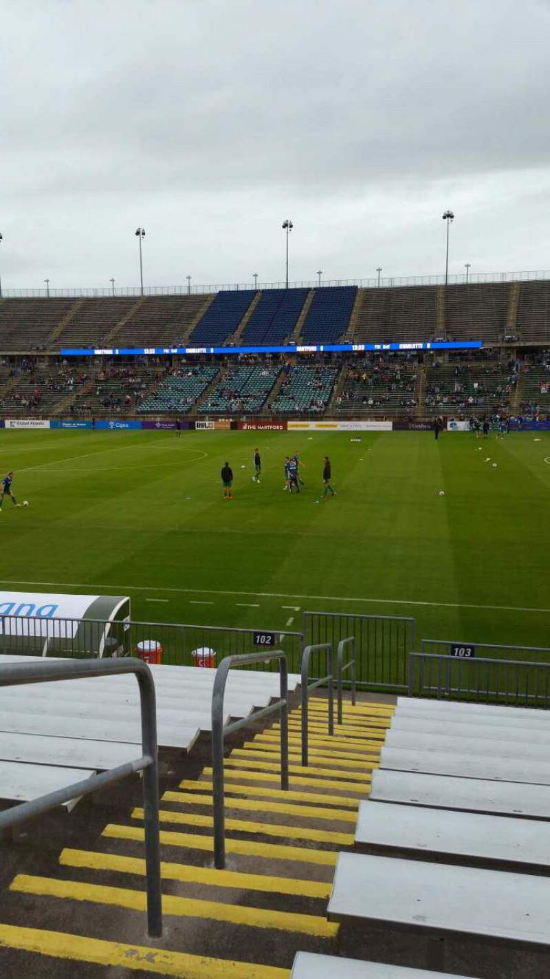 Seating view for Rentschler Field Section 103 Row 13 Seat 20