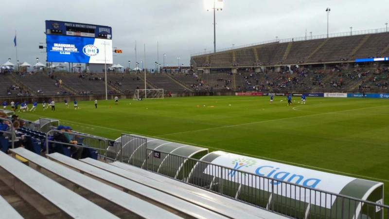 Seating view for Rentschler Field Section 102 Row 7 Seat 1