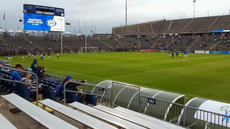 Seating view for Rentschler Field Section 102 Row 7 Seat 9