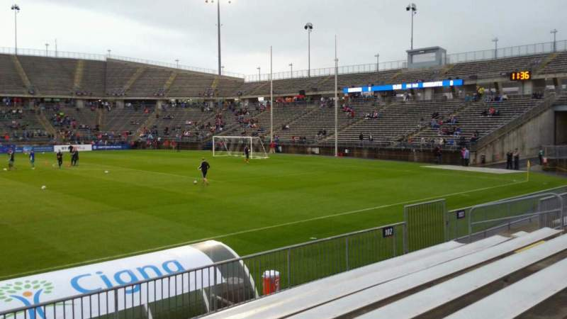 Seating view for Rentschler Field Section 102 Row 7 Seat 20