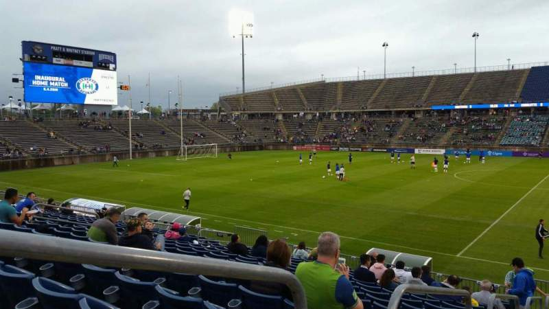 Seating view for Rentschler Field Section 101 Row 15 Seat 14