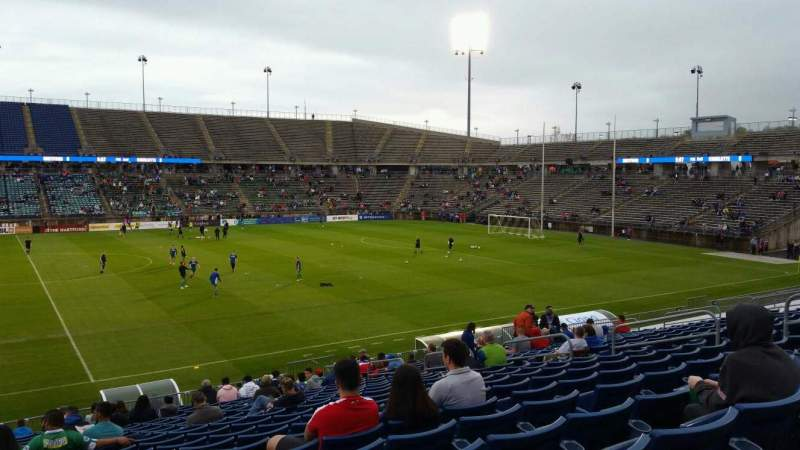 Seating view for Rentschler Field Section 100 Row 21 Seat 16
