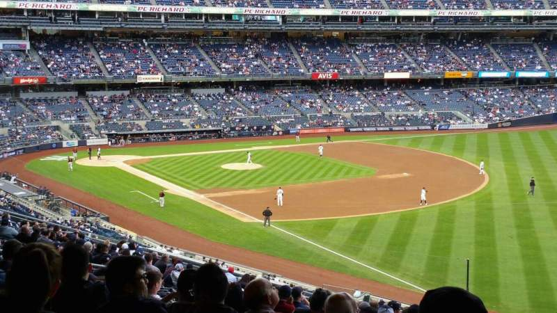 Seating view for Yankee Stadium Section 210 Row 22 Seat 8