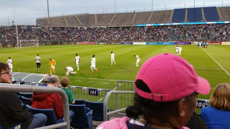 Seating view for Rentschler Field Section 100 Row 6 Seat 16