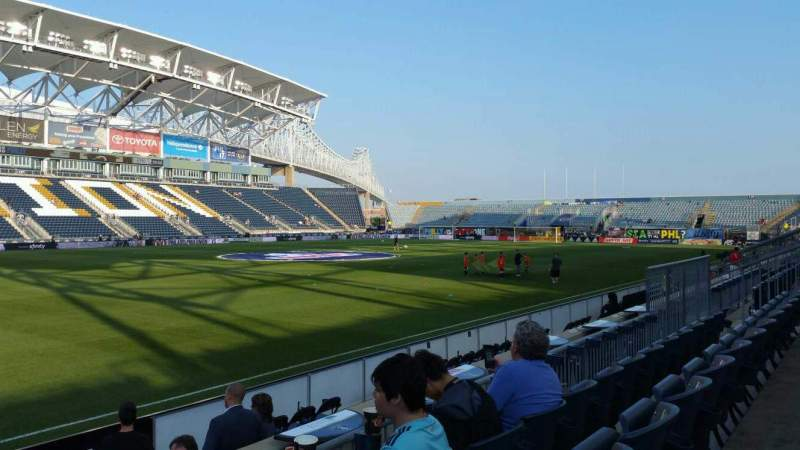 Seating view for Talen Energy Stadium Section 111 Row F Seat 18