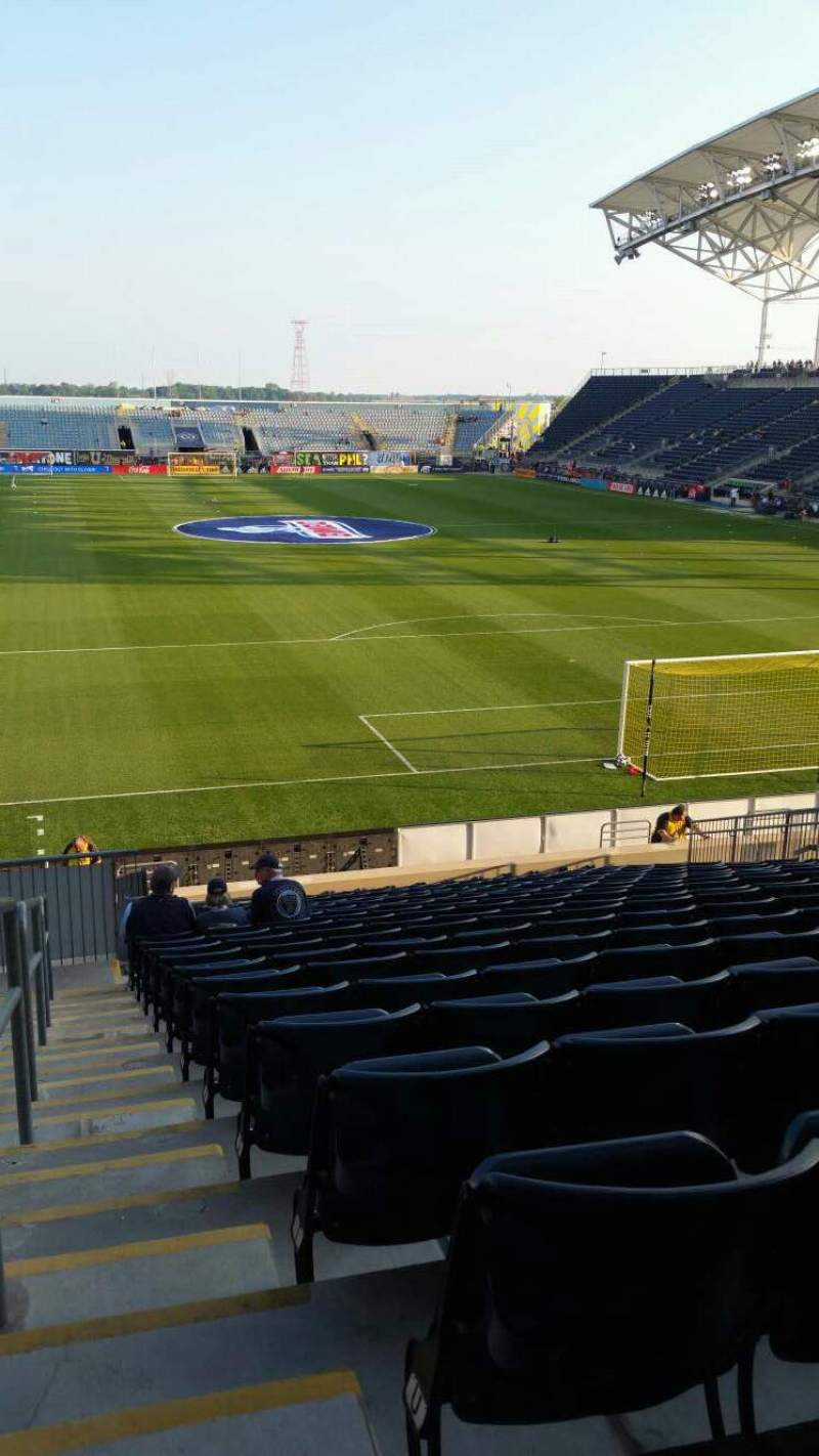 Seating view for Subaru Park Section 118 Row W Seat 23