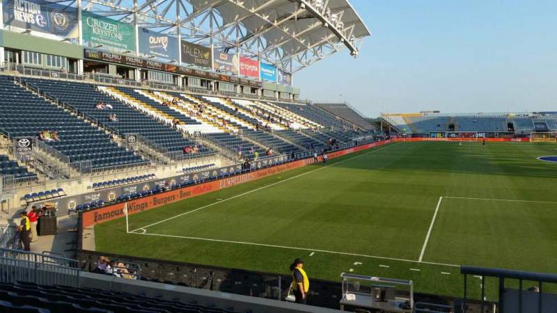 Seating view for Talen Energy Stadium Section 119 Row M Seat 1