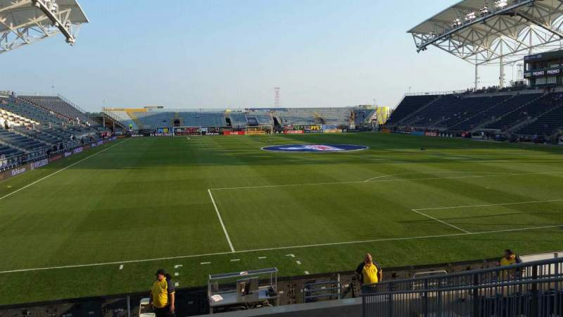 Seating view for Talen Energy Stadium Section 119 Row M Seat 9