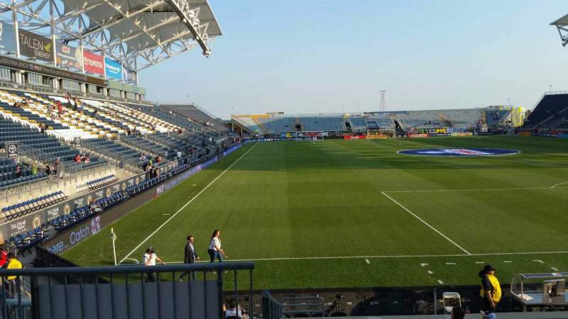 Seating view for Talen Energy Stadium Section 119 Row M Seat 20