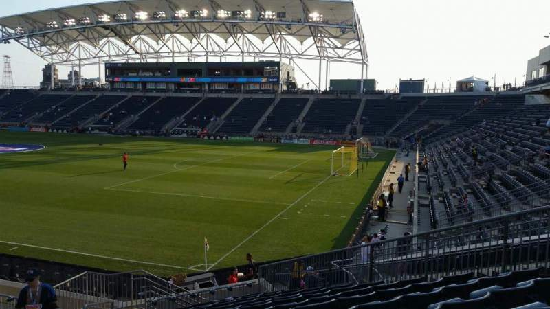 Seating view for Subaru Park Section 121 Row R Seat 21