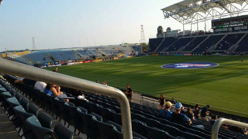 Seating view for Subaru Park Section 123 Row V Seat 20