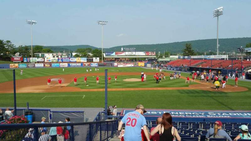 Seating view for FirstEnergy Stadium (Reading) Section Box 9 Row 20 Seat 18