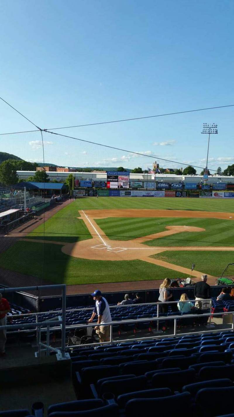 Seating view for NYSEG Stadium Section 104 Row U Seat 13