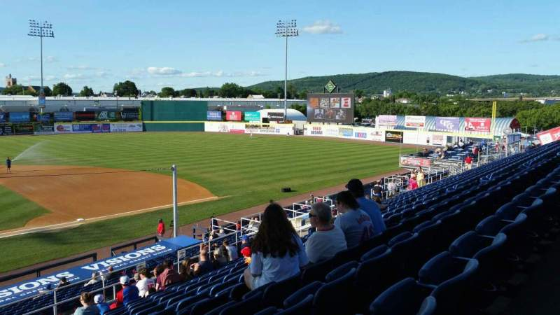 Seating view for NYSEG Stadium Section 106 Row Z Seat 24